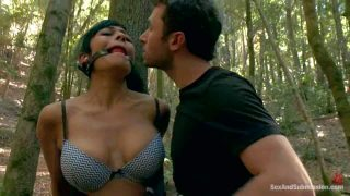 Beretta James and Chanel Preston get punished in the woods
